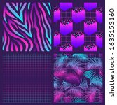 set of 4 seamless patterns with ...   Shutterstock .eps vector #1635153160