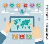 infographic business creative... | Shutterstock .eps vector #163516319