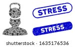 mosaic head weight stress and... | Shutterstock .eps vector #1635176536