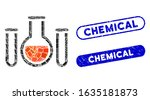 mosaic chemical vessels and... | Shutterstock .eps vector #1635181873