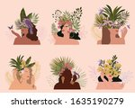 collection of paradise women...   Shutterstock .eps vector #1635190279