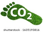 Carbon footprint symbol or...