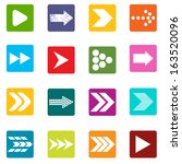 big set of arrows on a white... | Shutterstock .eps vector #163520096