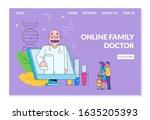 online doctor for family vector ... | Shutterstock .eps vector #1635205393