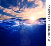 tropical postcard sea water... | Shutterstock . vector #163522820
