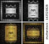 set of vintage frames. vintage... | Shutterstock .eps vector #163523828