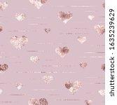 rose gold. seamless pattern... | Shutterstock .eps vector #1635239629