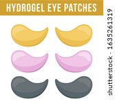 set of hydrogel eye patches.... | Shutterstock .eps vector #1635261319