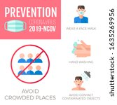 wuhun coronavirus graphic info... | Shutterstock .eps vector #1635269956