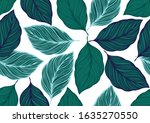 cerulean and viridian tropical... | Shutterstock .eps vector #1635270550
