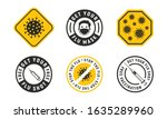 vector set of 6 flu signs ... | Shutterstock .eps vector #1635289960