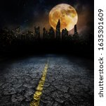 city lights in night and old... | Shutterstock . vector #1635301609