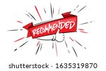 recommended icon. red label... | Shutterstock .eps vector #1635319870