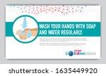 corona virus 2020. wuhan virus... | Shutterstock .eps vector #1635449920