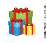 gifts boxes.  | Shutterstock .eps vector #163545284