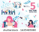 plastic surgery and... | Shutterstock .eps vector #1635485080