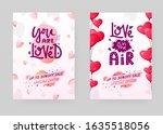 set of saint valentine's day...   Shutterstock .eps vector #1635518056