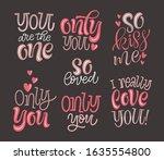 happy valentine's day vector... | Shutterstock .eps vector #1635554800