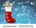 Santa\'s Red Stocking With A Lo...