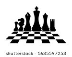 Silhouettes Of Chess Pieces....