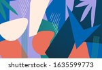 abstract composition of... | Shutterstock . vector #1635599773