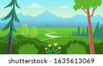 forest landscape with trees ... | Shutterstock .eps vector #1635613069