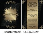 set of vintage frames. vintage... | Shutterstock .eps vector #163563029