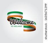 welcome to ireland flag.... | Shutterstock .eps vector #1635671299