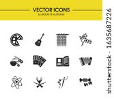 hobby icons set with knitting ...