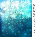 vector christmas blue...   Shutterstock .eps vector #163569056