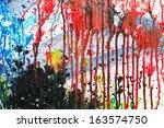 multicolor  textured background ... | Shutterstock . vector #163574750