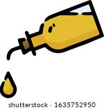 bottle of olive oil doodle...   Shutterstock .eps vector #1635752950