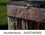 Close Up Of Old Wooden Post...