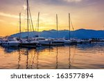Sailing Boats In Marina At...