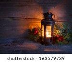 Christmas Lantern  In Night On...