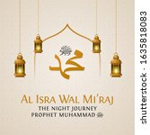 isra and mi'raj the night...   Shutterstock .eps vector #1635818083