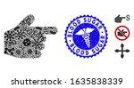 flu mosaic pointer finger icon...