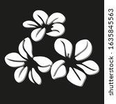 flower design logo vector with... | Shutterstock .eps vector #1635845563