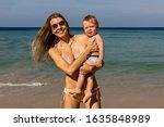 Joyful Young Woman In Bikini...