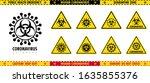 vector set of triangular signs...   Shutterstock .eps vector #1635855376