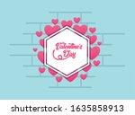 hearts design of happy... | Shutterstock .eps vector #1635858913