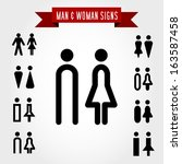 Man And Woman Signs  Concept O...