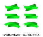 ribbon bow green stripe shape...   Shutterstock .eps vector #1635876916