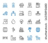 fuel icons set. collection of... | Shutterstock .eps vector #1635893680
