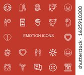 editable 22 emotion icons for... | Shutterstock .eps vector #1635910300