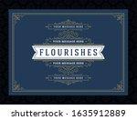 vintage ornament greeting card...   Shutterstock .eps vector #1635912889