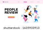 online people review concept...