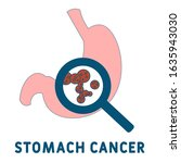 stomach cancer icon. simple...
