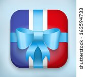 gift icon flag of france with...