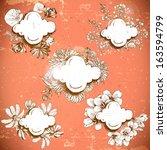floral vintage frame | Shutterstock .eps vector #163594799